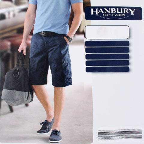 HANBURY-navy 6 pocket cotton cargo short