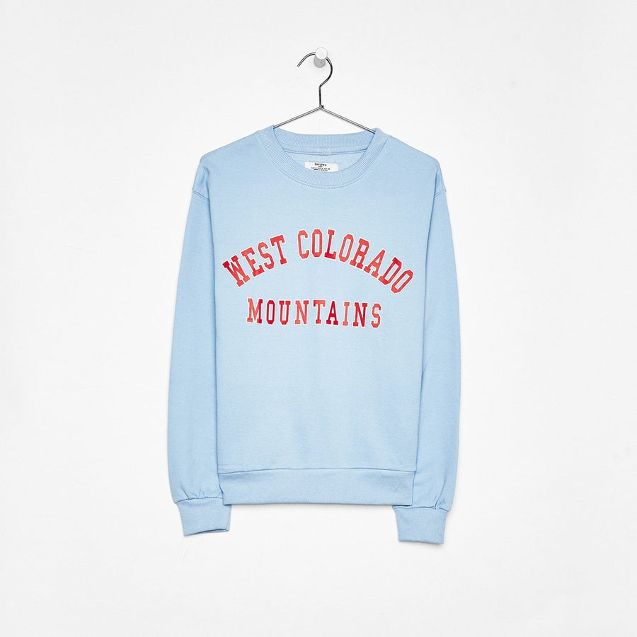BERSHKA-women light blue printed sweatshirt (460)