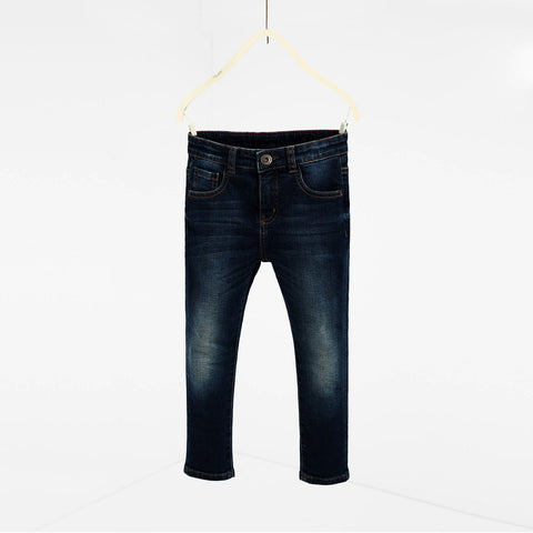 ZARA-boys dark blue 'slim fit' stretch jeans