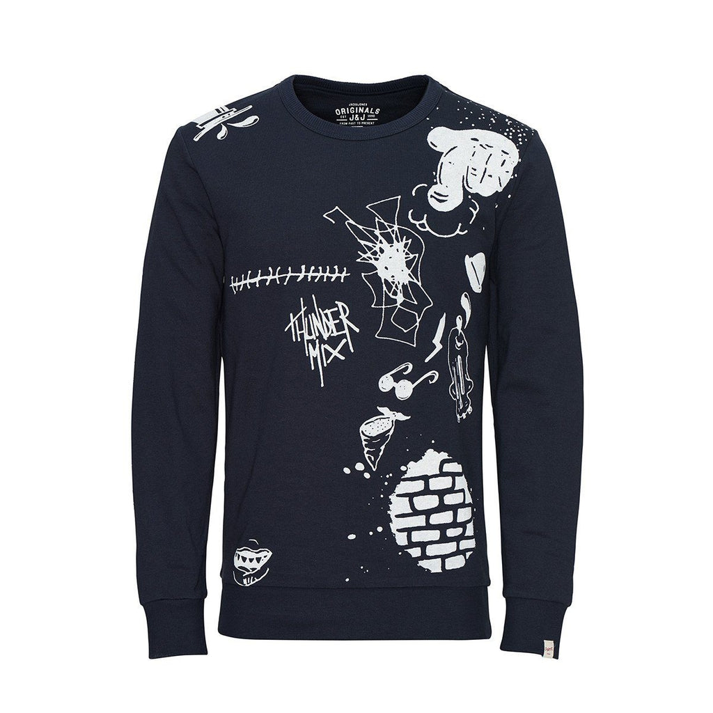 JACK & JONES-exclusive jjorscribble sweatshirt