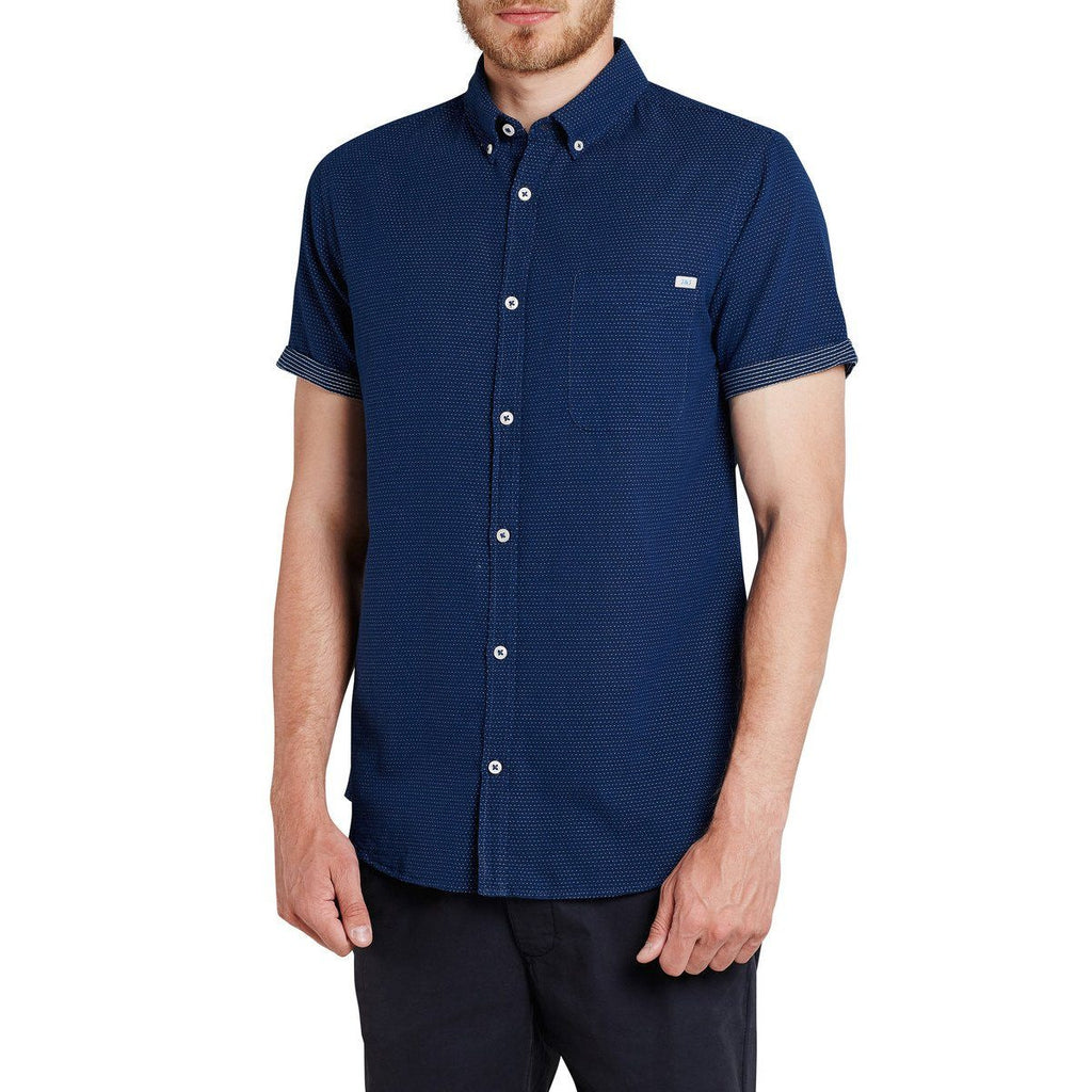 JACK & JONES-slim fit all-over print short-sleeved shirt