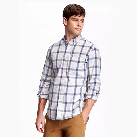 OLD NAVY-classic plaid fini ultra 'regular fit' shirt