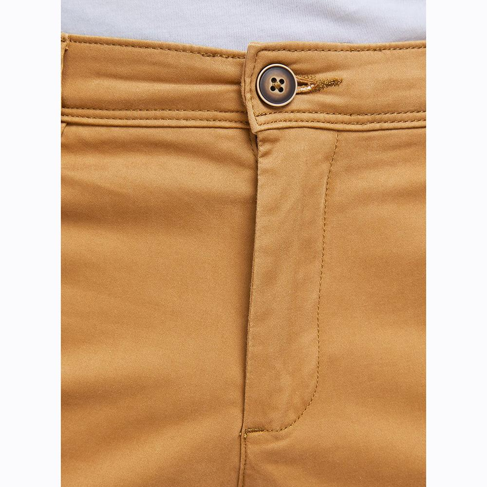Premium Quality Bone Brown 'Slim Fit' Cotton Chino (2569)