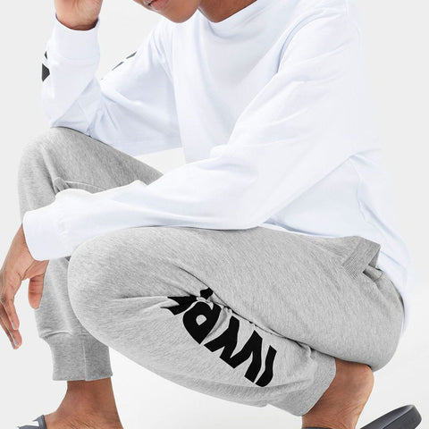 IVY PARK-grey terry jogger trouser
