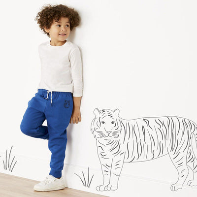 LUPILU-boys blue fleece jogger trouser (504)