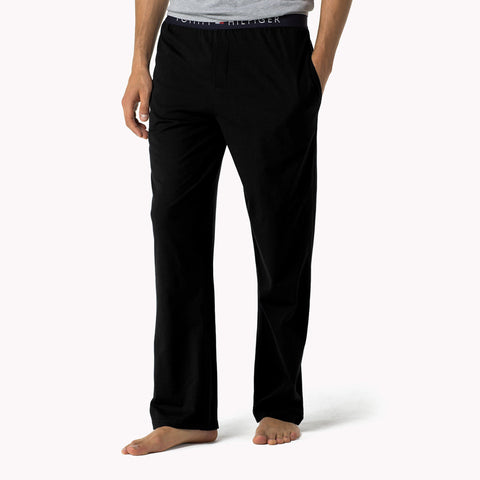TOMMY HILFIGER-black icon lounge pants