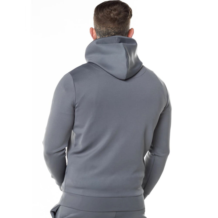 Exclusive grey 'muscle fit' core zip poly zipper