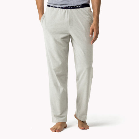 TOMMY HILFIGER-light grey icon lounge pants