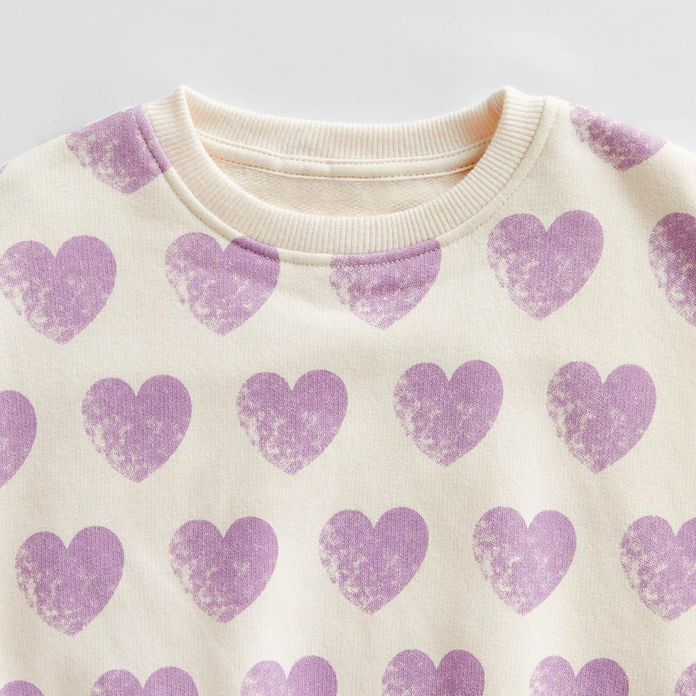 Girls all over Heart printed Sweatshirt (30137)