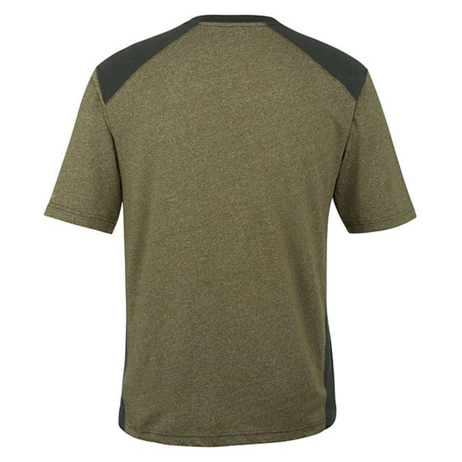 Wolvrn peat heather edge t-shirt with moisture wicking technology (1623)