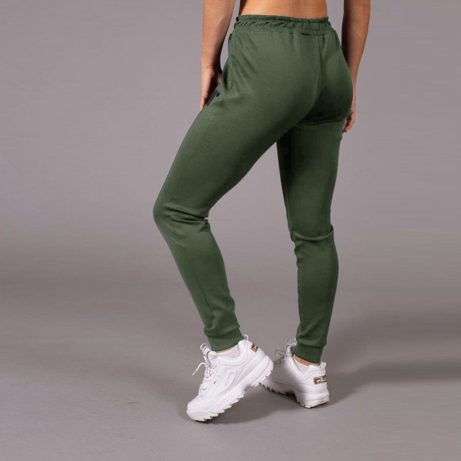 Exclusive women olive 'skinny fit' core poly trouser