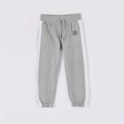 Teranva boys grey joggers with stripe (1493)