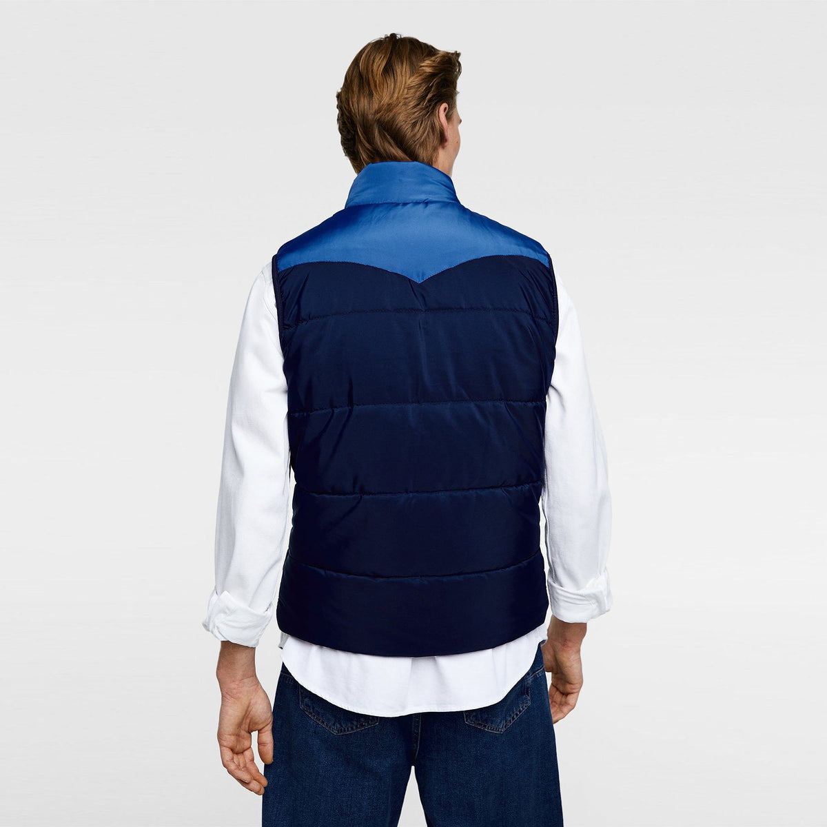 ZR-exclusive navy blue padded gilet
