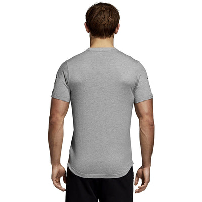 ADIDAS-heather grey badge of sport classic t-shirt