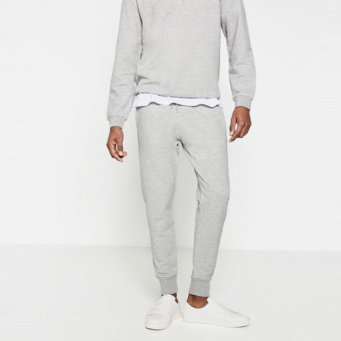 ZARA-basic grey marl plush trouser