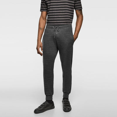 ZARA-exclusive charcoal 'slim fit' pique jogging trouser