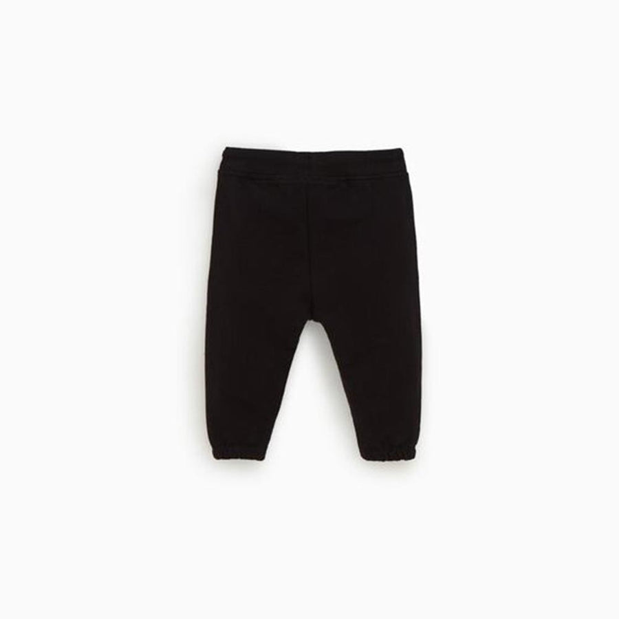 Zr kids black 'slim fit' plush jogger trouser (1418)