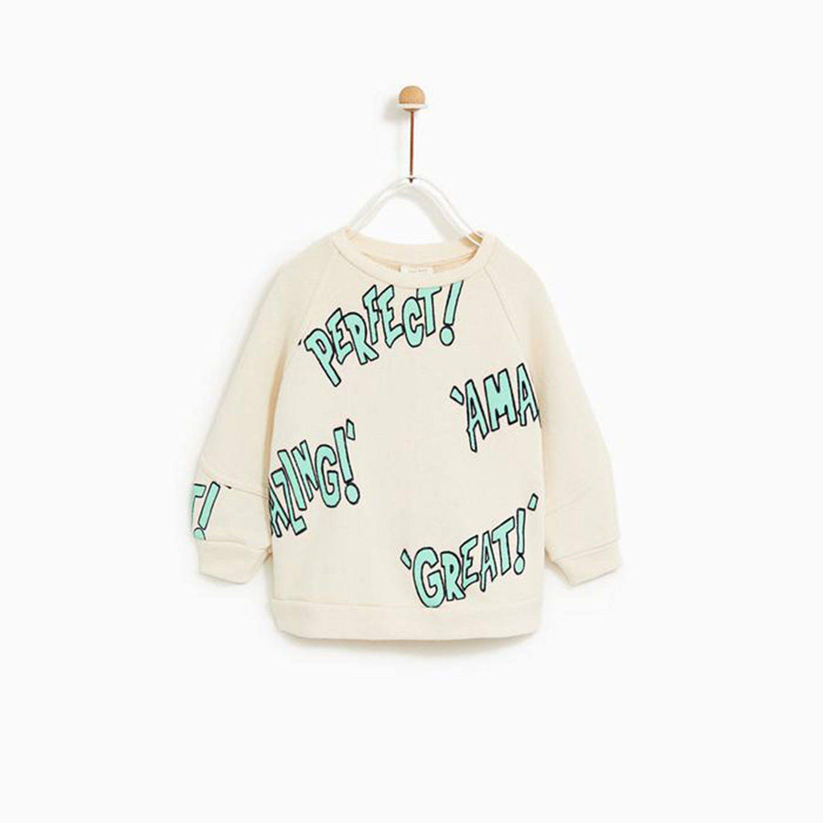 ZARA-kids perfect printed sweatshirt (559)