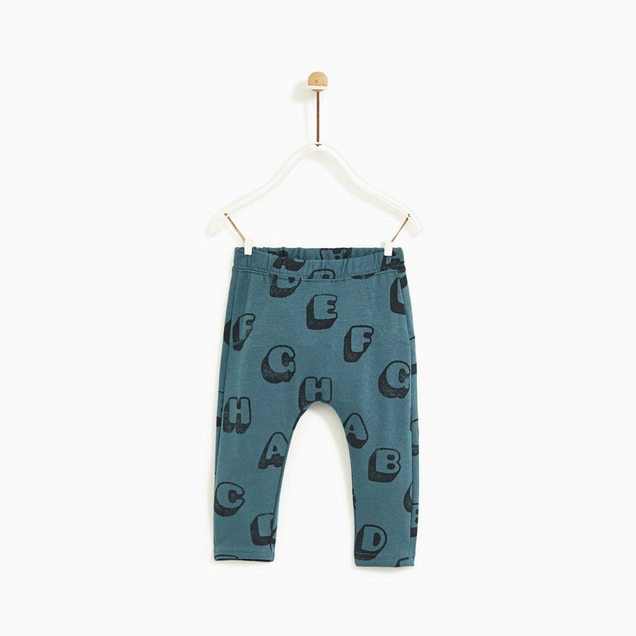 ZARA-kids letter fleece leggings (444)