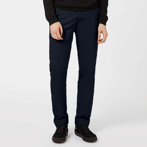 TOPMAN-navy 'regular slim' stretch cotton chino