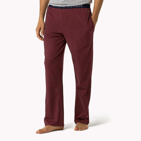 TOMMY HILFIGER-light maroon icon lounge pants