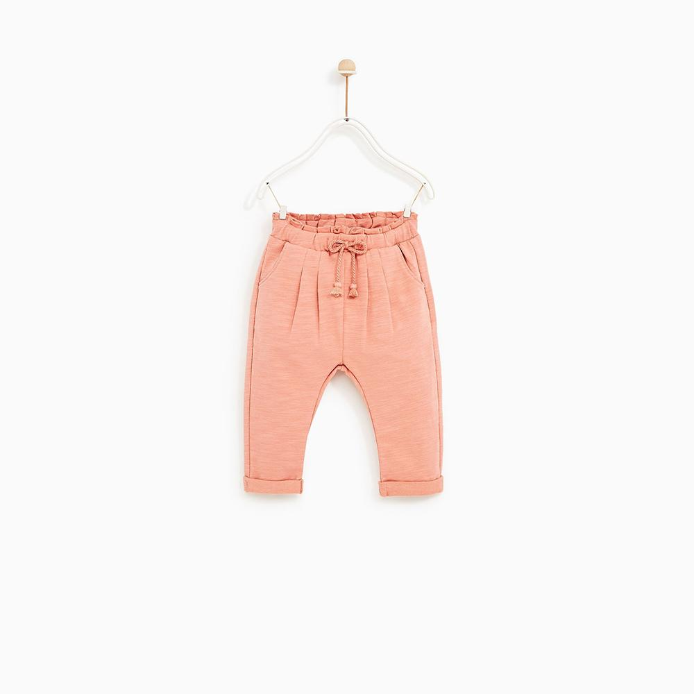 Girls Pink Soft Fine Terry Trouser (30204)