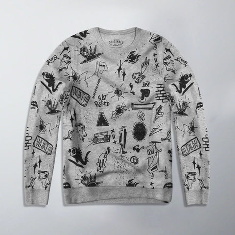 JACK & JONES-exclusive grey printed sweatshirt