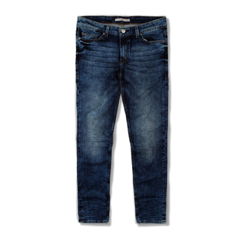 MANGO-random acid wash 'slim fit' stretch jeans