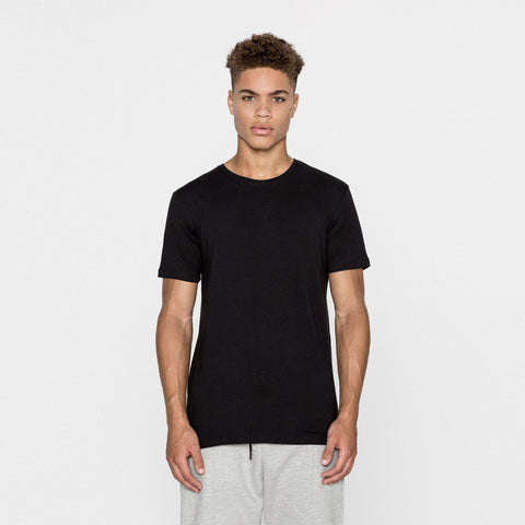 PULL&BEAR-basic black 'slim fit' t-shirt