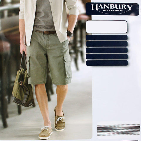 HANBURY-olive 6 pocket cotton cargo short