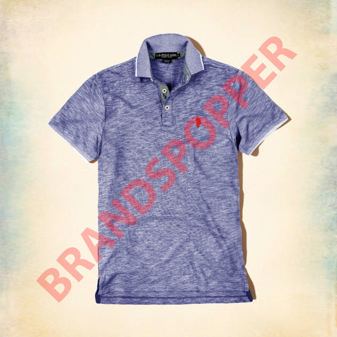 U.S. POLO ASSN-custom fit violet polo