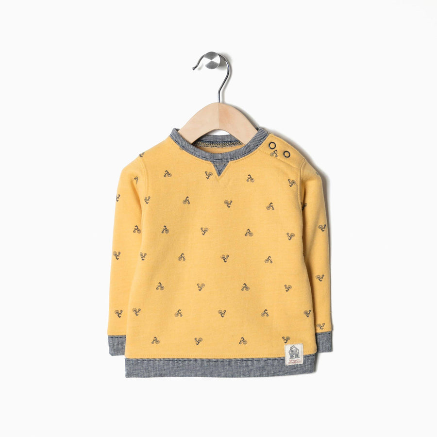 ZIPPY-kids yellow bicycle sweatshirt (567)