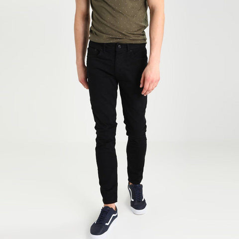 BURTON-jet black 'slim fit' stretch jeans
