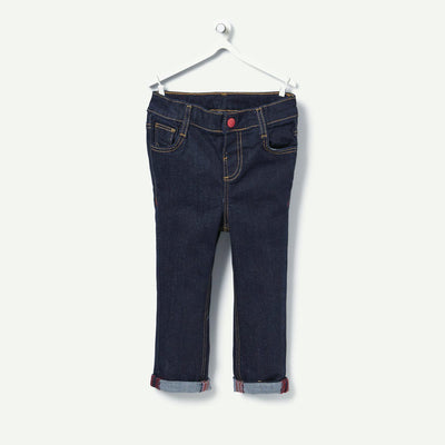 TAPE A LOEIL-baby boy navy jeans with turn-ups