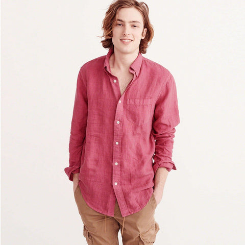 GAP-true wash red 'classic fit' shirt