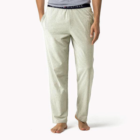TOMMY HILFIGER-oatmeal icon lounge pants