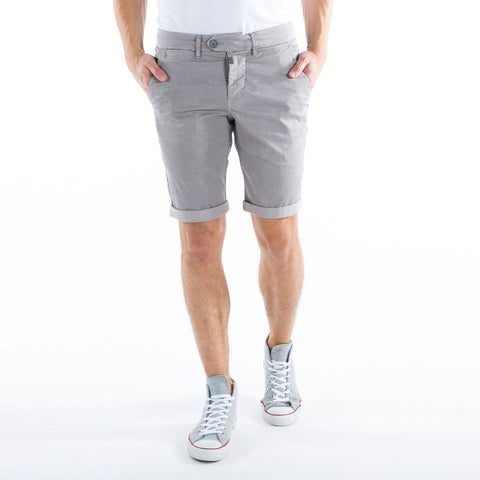 TIMEZONE-gray triangle 'slim fit' stretch chino short