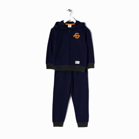 ZIPPY-Boys fleece tracksuit with chest printing