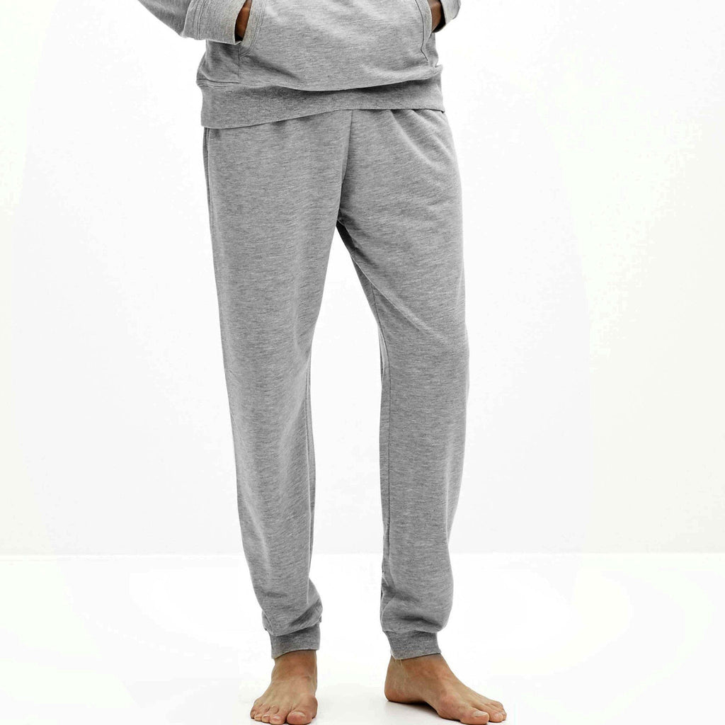 CELIO-grey 'slim fit' terry jogger trouser