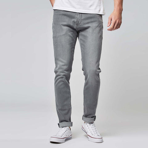 NEXT-light grey 'skinny fit' stretch jeans