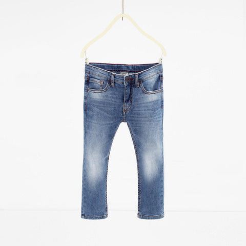 ZARA-boys light blue 'slim fit' stretch jeans