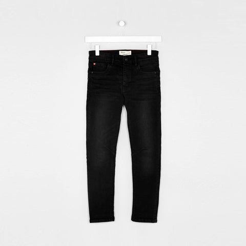 MATALAN-boys black washed 'skinny fit' stretch jeans