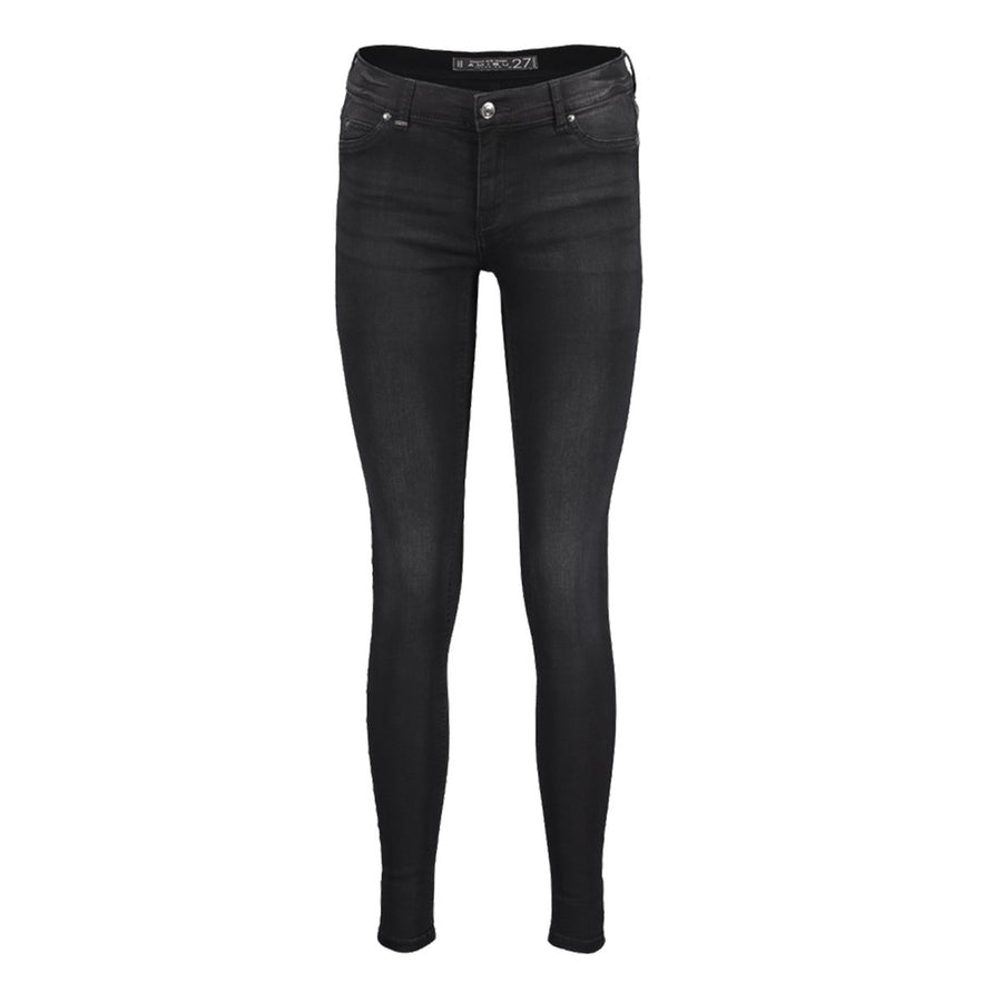 Exclsuive black 'skinny fit' stretch jeans
