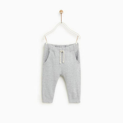 Zr kids grey marl plush trouser (1190)