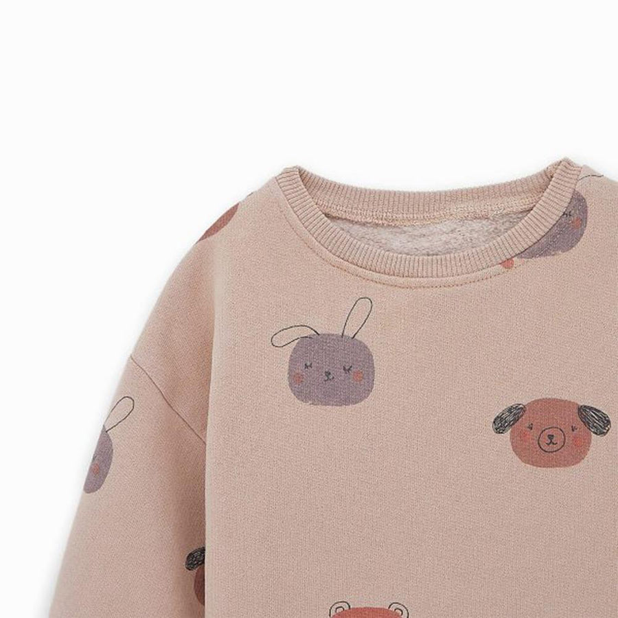Zr kids animal print pink sweatshirt (1189)
