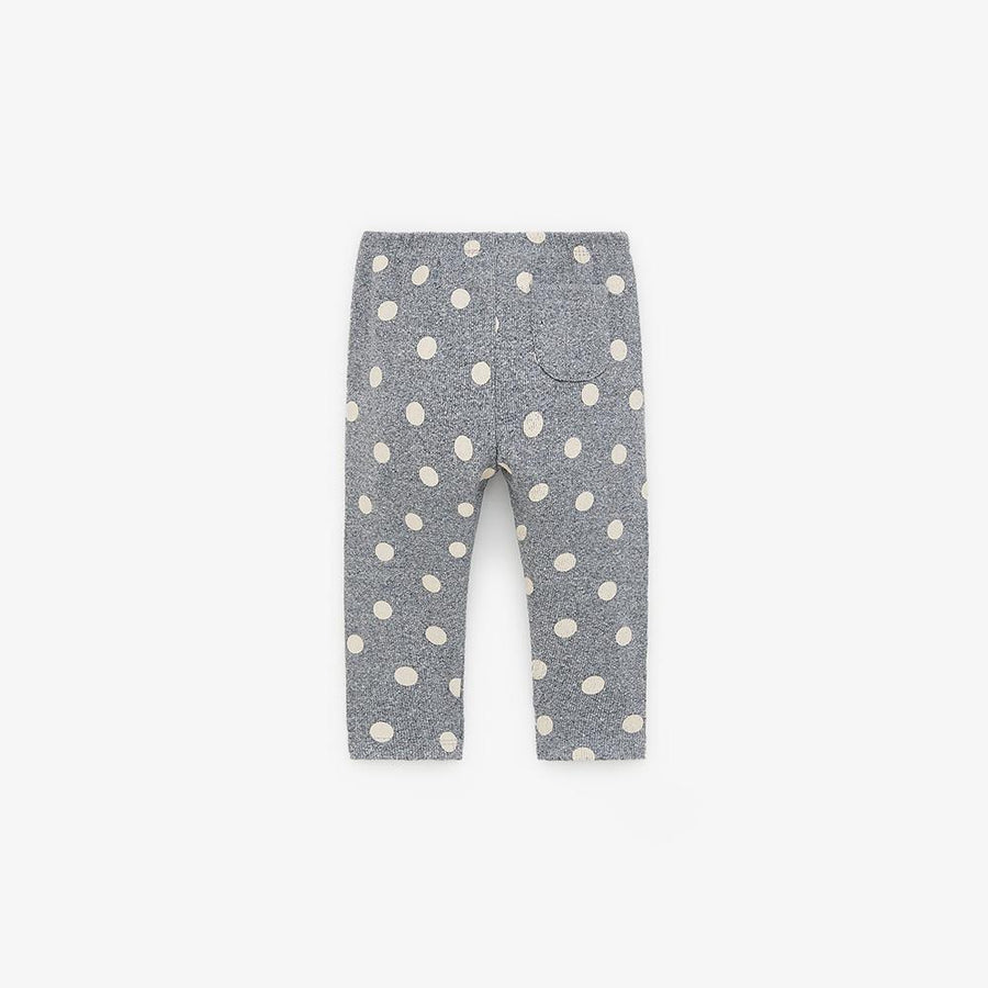 Zr kids grey dotted basic ribbed leggings (1519)