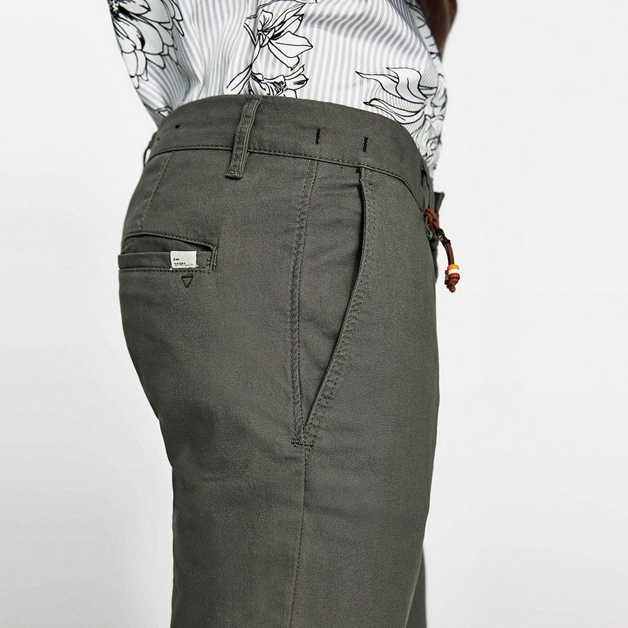 ZR-exclusive grey 'skinny fit' stretch cotton chino
