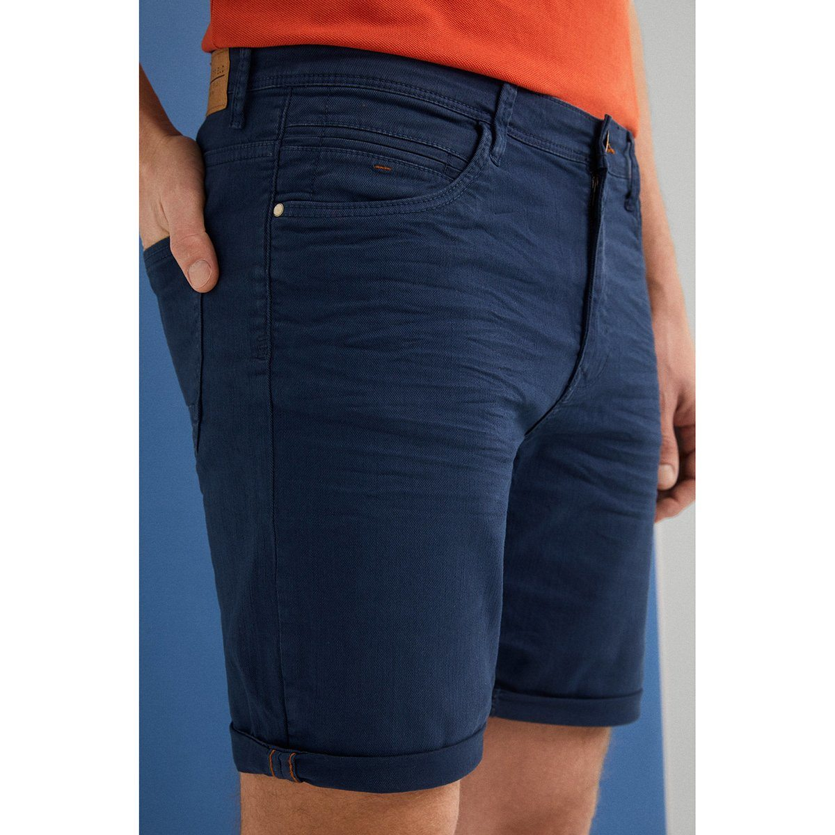 SF-blue steel 'slim fit' stretch bermuda short (962)