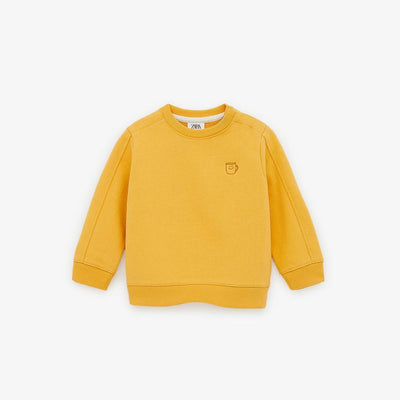 Zr kids yellow embroidered sweatshirt (1468)