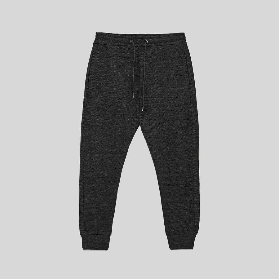 ZR-exclusive charcoal 'slim fit' pique jogging trouser